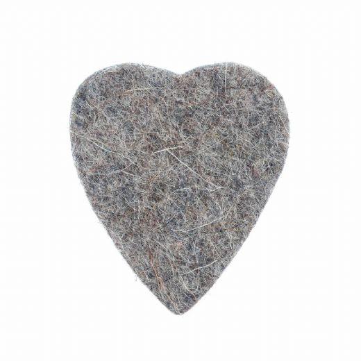 Felt Tones Heart Grey Wool Felt 1 Pick